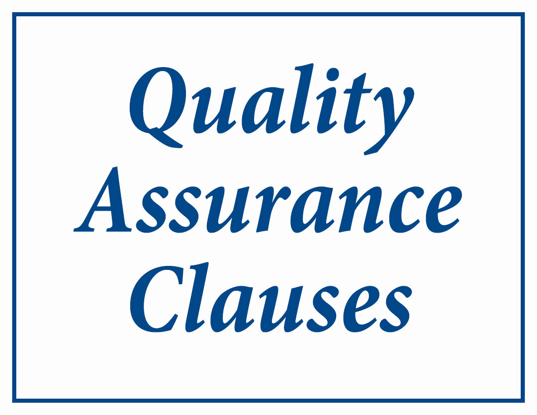 ACT: Quality Assurance Clauses